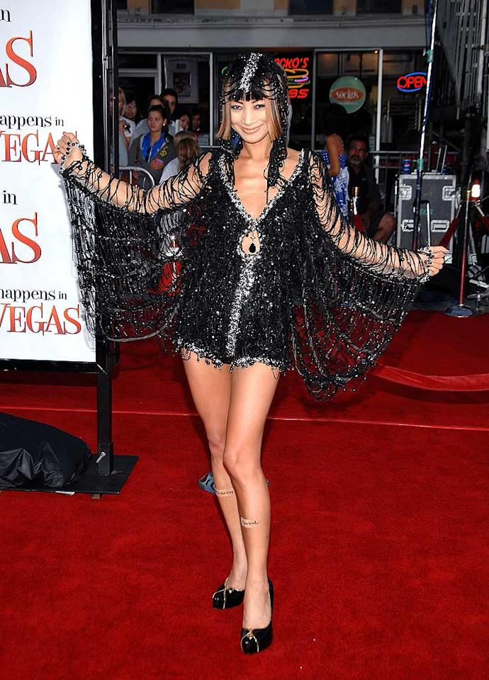 "Z-lister Bai Ling looks truly terrifying in this spiderwebbed mess of a dress. John Shearer/<a href=""http://www.wireimage.com"" target=""new"">WireImage.com</a> - May 1, 2008"