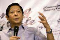 The son and namesake of the Philippines' former dictator Ferdinand Marcos has said he will run for president in the 2022 election (AFP/Noel CELIS)