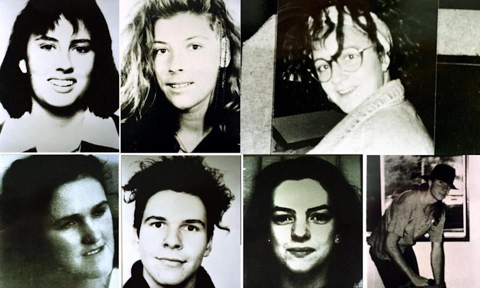 The faces of Ivan Milat's known murder victims