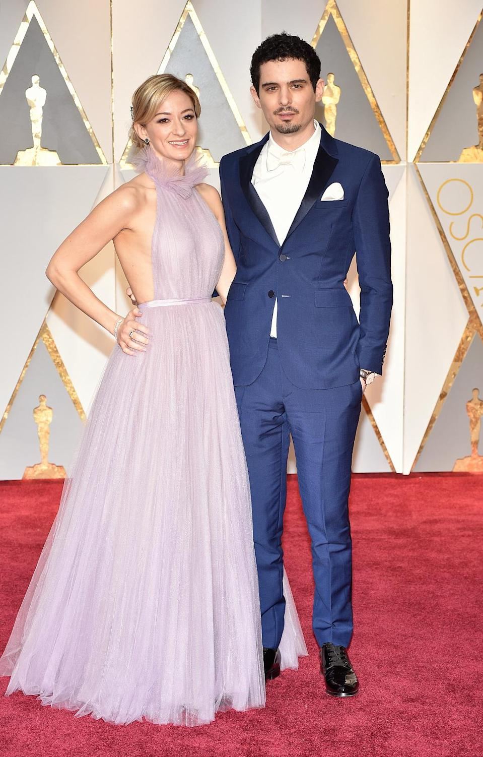 <p>Olivia Hamilton and Damien Chazelle attend the 89th Annual Academy Awards at Hollywood & Highland Center on February 26, 2017 in Hollywood, California. (Photo by Kevin Mazur/Getty Images) </p>