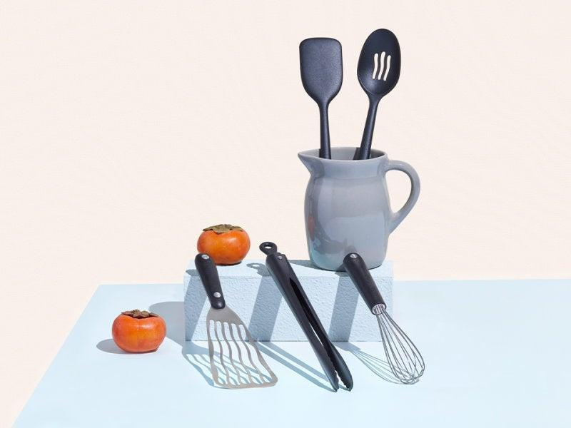 """<h2>The Utensils Set</h2><br>Tongs, a whisk, a slotted spoon, a spatula, and a slotted spatula, oh my! All the accessories you need for cooking can be found in the EP utensil set.<br><br><strong>Equal Parts</strong> The Utensils Set, $, available at <a href=""""https://go.skimresources.com/?id=30283X879131&url=https%3A%2F%2Fequalparts.com%2Fproducts%2Fkitchen-utensils-set"""" rel=""""nofollow noopener"""" target=""""_blank"""" data-ylk=""""slk:Equal Parts"""" class=""""link rapid-noclick-resp"""">Equal Parts</a>"""