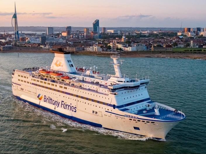 <p>Chelsea and Manchester City fans might literally be ferried to Porto for the Champions League final</p> (Brittany Ferries)