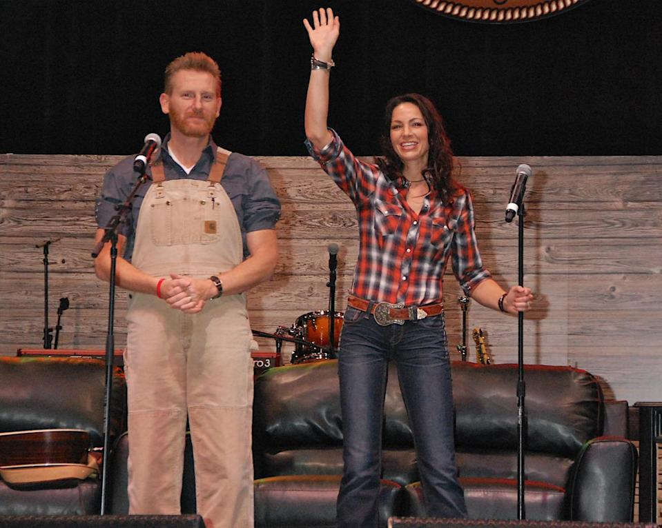 Joey Martin Feek (right) was one half of the country duo Joey + Rory with her husband, Rory Feek. She died March 4 after a battle with cervical cancer that eventually spread to her colon. She was 40 years old. (Photo: Getty Images)