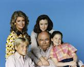 OUR HOUSE -- Season 1 -- 1987: Pictured: (clockwise, top left) Deidre Hall as Jessica 'Jessie' Witherspoon, Shannen Doherty as Kris Witherspoon, Keri Houlihan as Molly Witherspoon, Wilford Brimley as Gus Witherspoon, Chad Allen as David Witherspoon -- Photo by: Frank Carroll/NBCU Photo Bank
