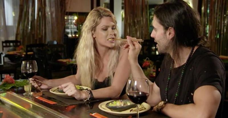 You know there's serious sexual chemistry when a man feeds you with a pair of chopsticks. Source: Ten