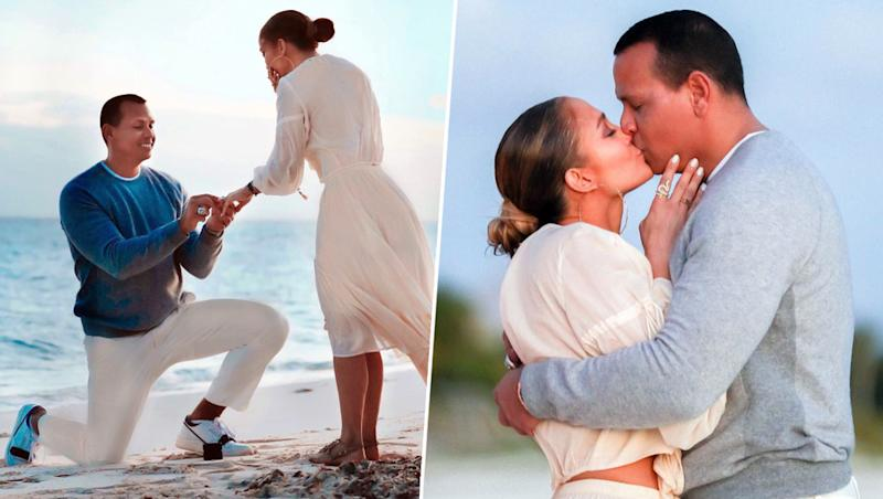 Jennifer Lopez Shares New Pictures With Fiance Alex Rodriguez From their Bahamas Engagement and They Are Gorgeous