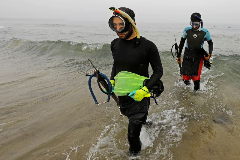 Spearfishing in Gaza, a living improvised under the sea
