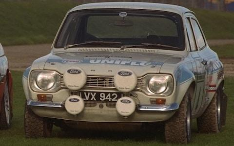 1972 AND 1998 FORD ESCORT RALLY CARS