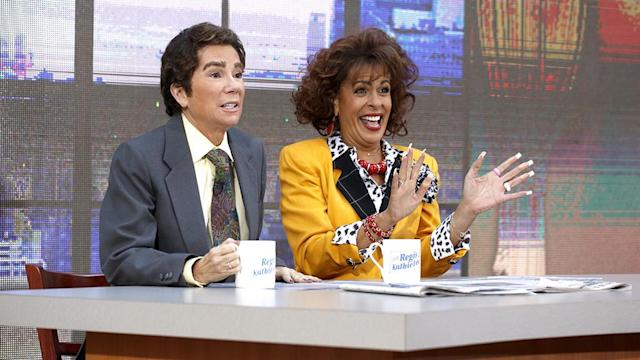 <p>The co-hosts of <i>Today</i>'s fourth hour looked to Gifford's past for their inspiration as they dressed up as Regis Philbin and Kathie Lee Gifford circa the early years of their <i>Live</i> show. Of course, the real Reg had to make a surprise appearance! (Photo: Nate Congleton/NBC) </p>