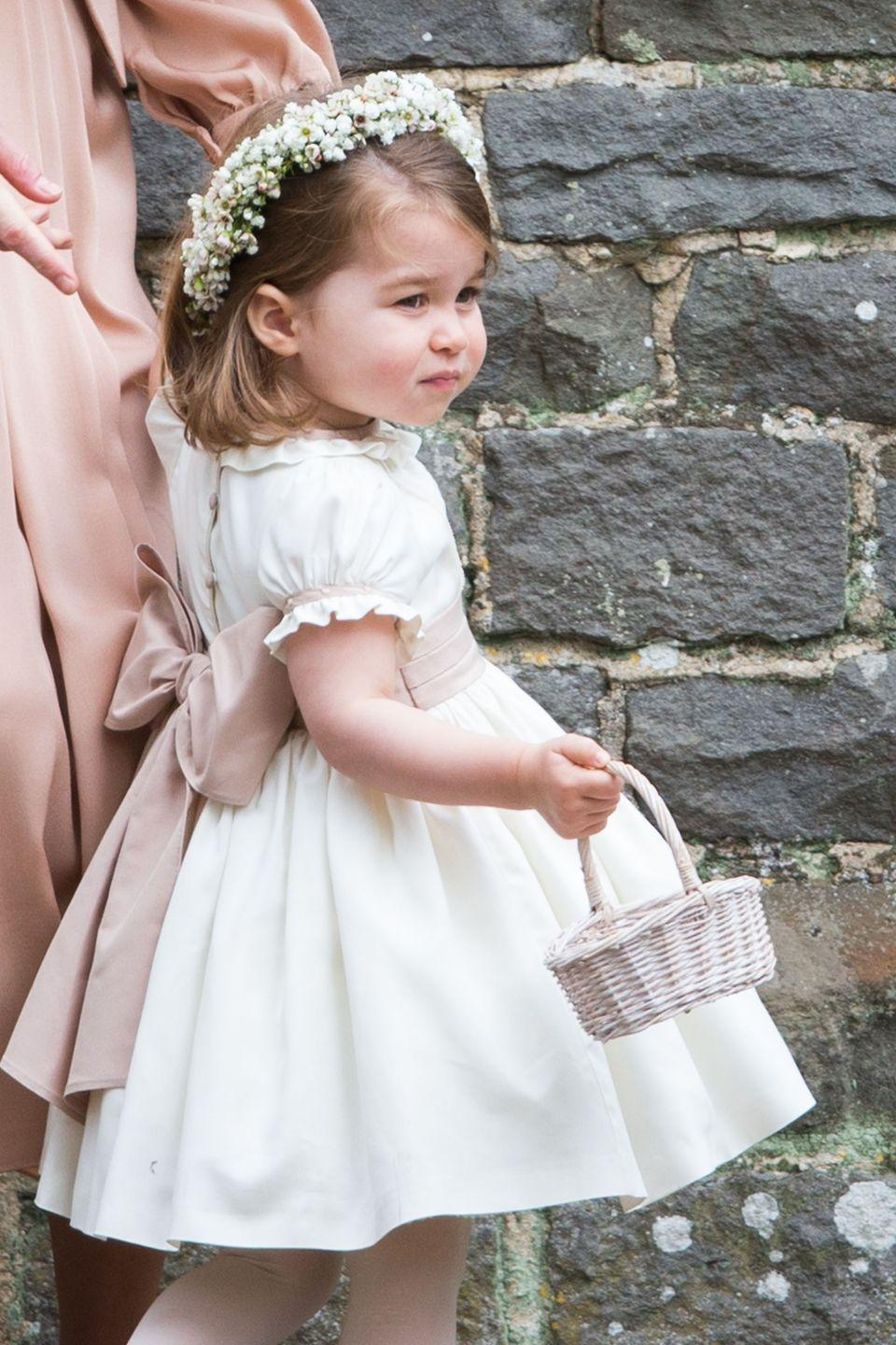 <p>While Princess Charlotte managed to be the sweetest little bridesmaid of all time.</p>