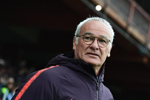 Claudio Ranieri's (pictured may 5, 2019) side are fifth, three points behind Inter Milan (AFP Photo/Miguel MEDINA)