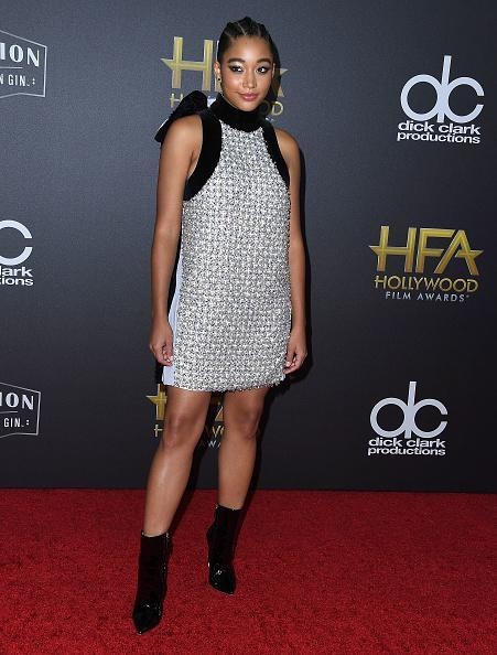 <p>Amandla wore a Ralph & Russo couture dress at the 22nd Annual Hollywood Film Awards on November 4, 2018 in Beverly Hills, California. <em>[Photo: Getty]</em> </p>