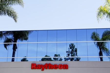 A Raytheon building is shown in San Diego