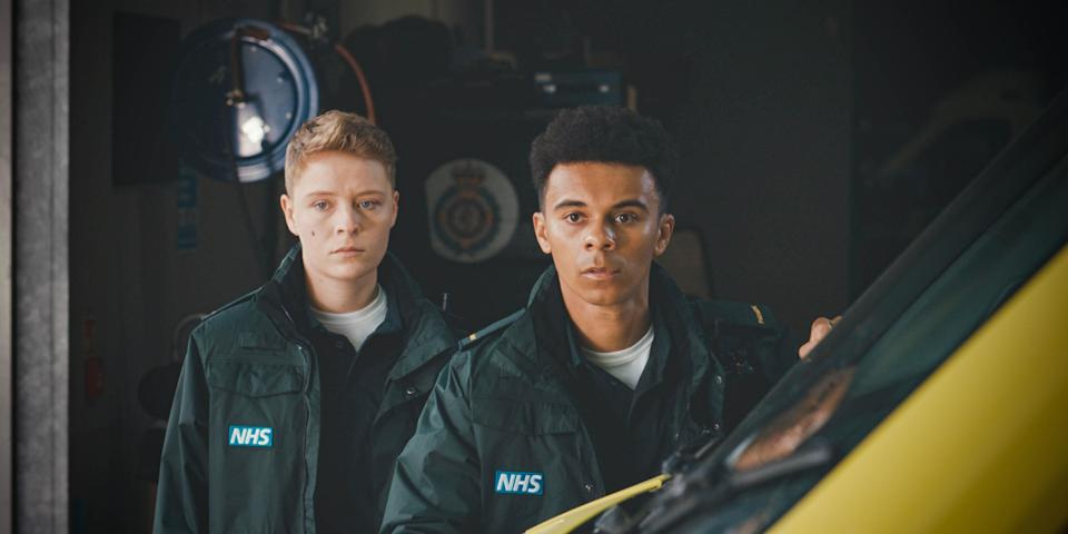 Sah and Teddy in Casualty (BBC/PA)