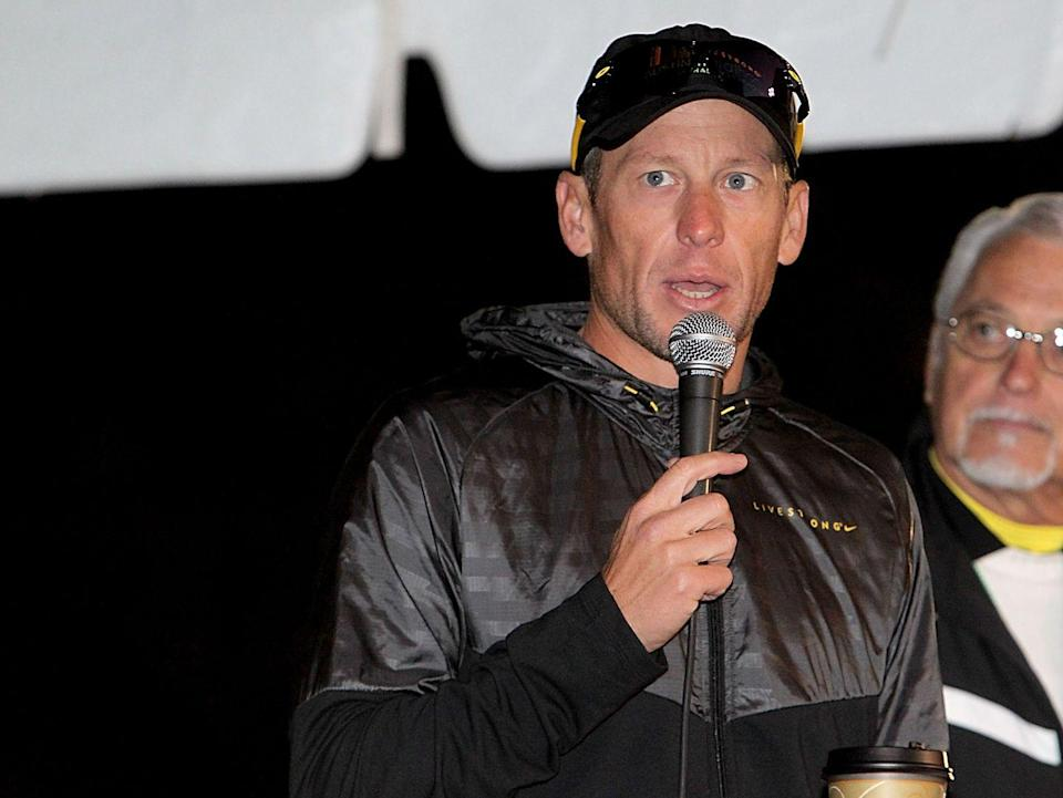 "<p>As a cancer survivor and wildly successful athlete, Lance Armstrong was long held as a national hero — remember when you were basically trash if you didn't own a LIVESTRONG bracelet? After years of doping accusations, the biker <a href=""http://www.cnn.com/2013/01/17/us/lance-armstrong-fast-facts/index.html"" rel=""nofollow noopener"" target=""_blank"" data-ylk=""slk:finally admitted"" class=""link rapid-noclick-resp"">finally admitted</a> wrong-doing by stopping his fight against charges by the US Anti-Doping Agency in August 2012. He was stripped of his seven Tour de France titles and banned for life.</p>"