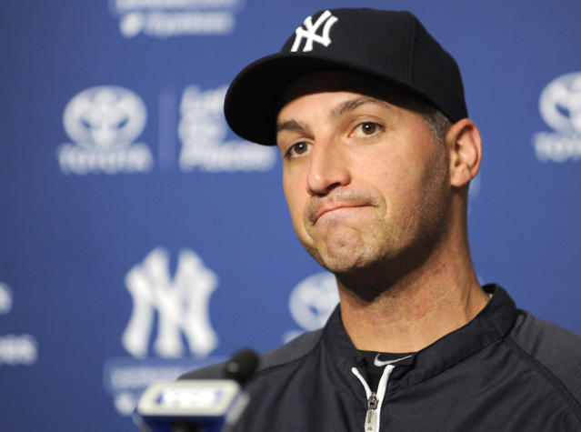 New York Yankees pitcher Andy Pettitte pauses as he speaks to the media regarding his announcement to retire at the end of the season during a news conference before a baseball game against the San Francisco Giants Friday, Sept. 20, 2013, at Yankee Stadium in New York. (AP Photo/Bill Kostroun)