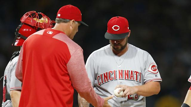 If you want to stay healthy for the next few months, don't be a starting pitcher for the Reds.