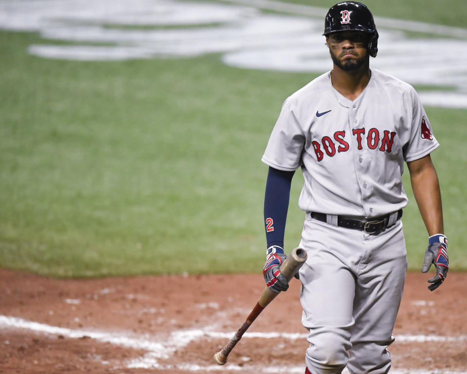 Xander Bogaerts and the Red Sox aren't the same without Mookie Betts and Chris Sale. (Photo by Douglas P. DeFelice/Getty Images)