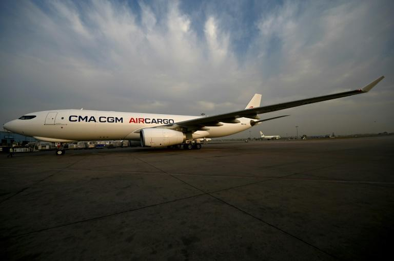 A cargo plane loaded with Covid-19 medical supplies from France arrives in New Delhi