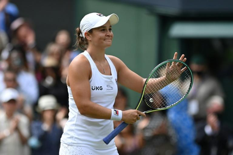 Ashleigh Barty is one win away from realising her dream of the Wimbledon women's title on the 50th anniversary of her idol and fellow indigenous Australian Evonne Goolagong Cawley's first crown
