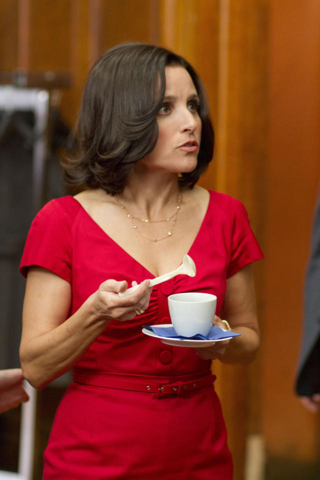 "Julia Louis-Dreyfus stars as Vice President Selina Meyer in ""Veep."""