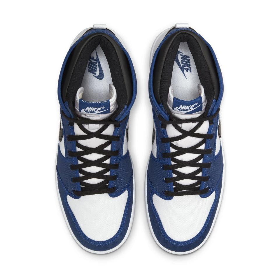 """A top-down view of the Air Jordan 1 KO """"Storm Blue."""" - Credit: Courtesy of Nike"""