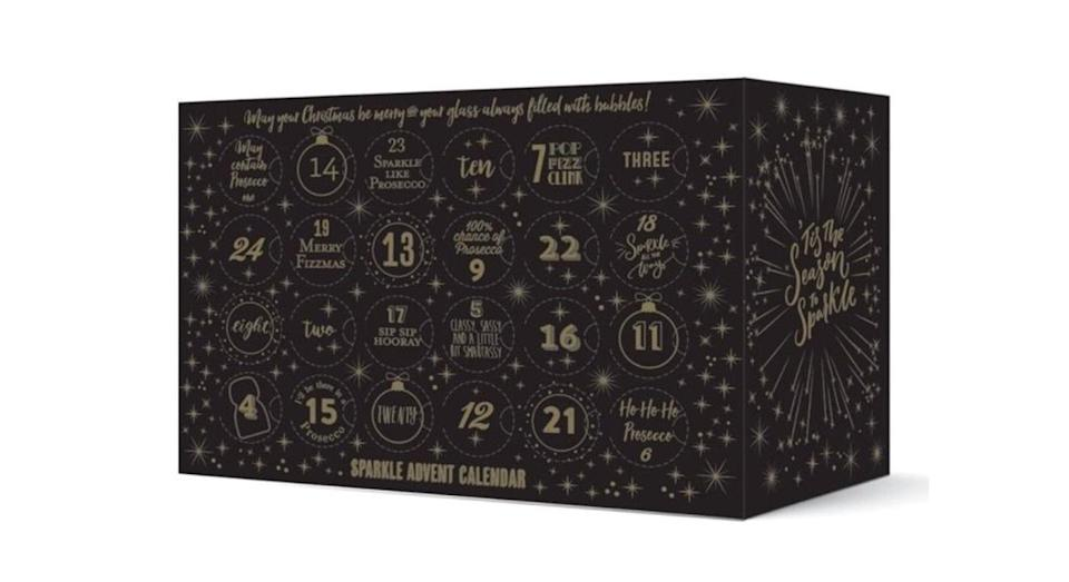 """<p>Add some sparkle to December with a little bottle of fizz every day. <a href=""""https://www.thepipstop.co.uk/gifts-c1/other-gifts-c111/advent-calendars-c81/the-pip-stop-superstar-sparkling-wine-advent-calendar-pre-order-p772"""" rel=""""nofollow noopener"""" target=""""_blank"""" data-ylk=""""slk:The Pip Stop, £125"""" class=""""link rapid-noclick-resp""""><em>The Pip Stop, £125</em></a> </p>"""