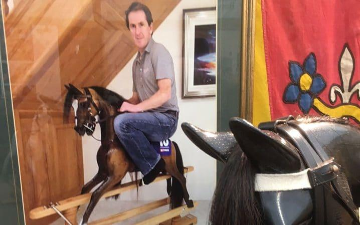AP on a rocking horse - Credit: Alan Tyers for the Telegraph