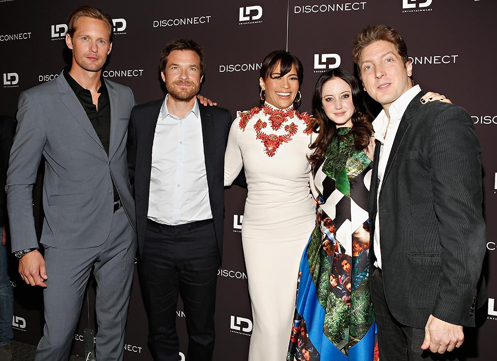 "NEW YORK, NY - APRIL 08:  (L-R) Actors Alexander Skarsgard, Jason Bateman, Paula Patton, Andrea Riseborough, and director Henry-Alex Rubin attend the ""Disconnect"" New York Special Screening at SVA Theater on April 8, 2013 in New York City.  (Photo by Cindy Ord/Getty Images)"