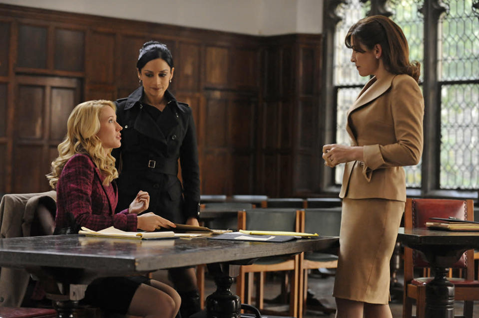 <p>Caitlin (Anna Camp) was a promising young lawyer who wanted to leave her burgeoning career to focus on her fiancée and their planned family. For some viewers, that's as divisive a decision as Alicia standing by Peter at the start of the series. Alicia tried to talk Caitlin out of it — you can have it all — but Caitlin said she wasn't sacrificing anything; she was choosing what she wanted. Her generation has nothing to prove, Caitlin said. Of course, years later we learned that Caitlin is now a single mom, back at work, and wondering if she ever should have left. Is the moral that nothing can guarantee a happily ever after, or that she'll be fine, just like Alicia was?<i> (Credit: Jeffrey Neira/CBS)</i></p>