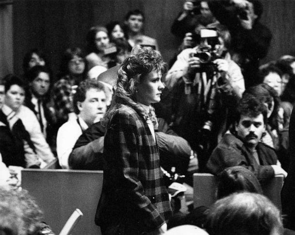 PHOTO: Pamela Smart, 23, enters the Rockingham County Superior Court courtroom in Exeter, N.H. for the verdict in her trial, March 22, 1991. (Tom Landers/The Boston Globe via Getty Images, FILE)