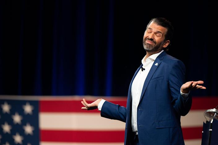 A recent tweet by Donald Trump Jr has drawn cries of hypocrisy (Getty Images)