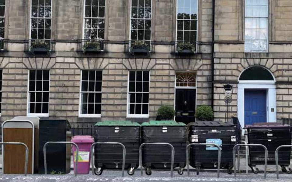 Bin hubs in Edinburgh's streets could cost the city its world heritage status