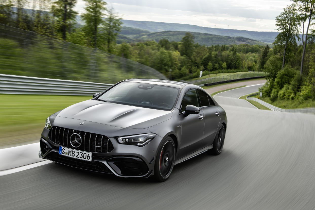 The CLA45 gets the same powertrain as the A45