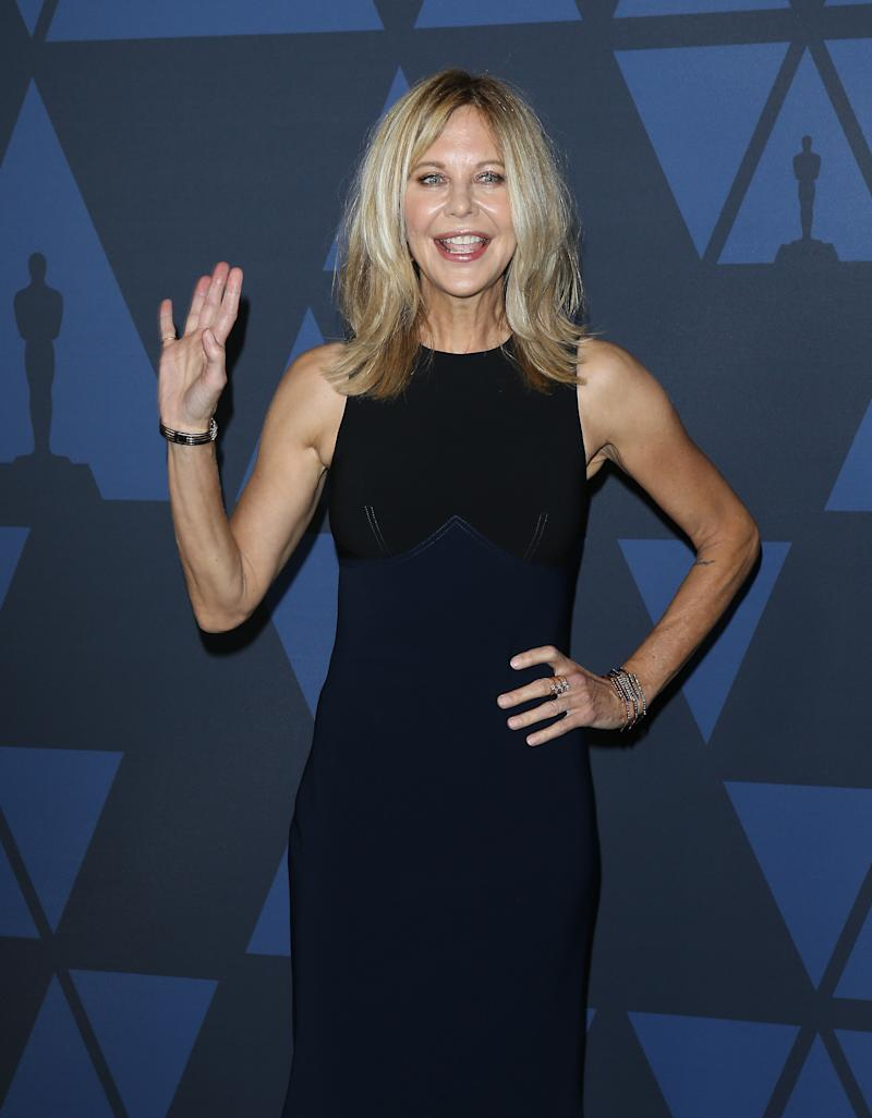 HOLLYWOOD, CALIFORNIA - OCTOBER 27: Meg Ryan arrives to the Academy of Motion Picture Arts and Sciences' 11th Annual Governors Awards held at The Ray Dolby Ballroom at Hollywood & Highland Center on October 27, 2019 in Hollywood, California. (Photo by Michael Tran/FilmMagic)