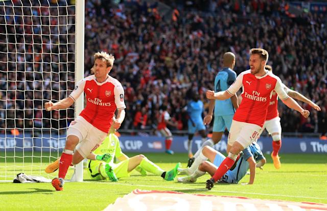 Nacho Monreal gets the equaliser