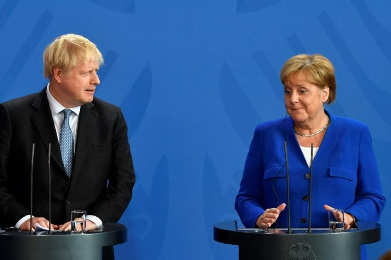 Angela Merkel has questioned whether Boris Johnson's government even wants a deal (AFP Photo/John MACDOUGALL)