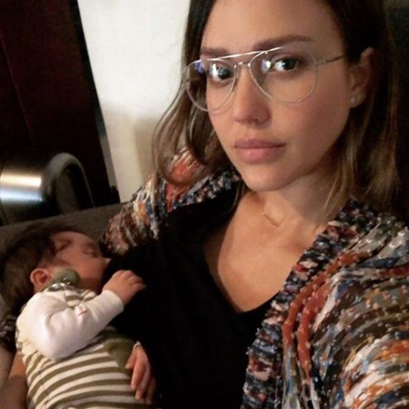 The mum-of-three shared a breastfeeding selfie with her youngest, Hayes, in February 2018. Hayes is brother to Honor, nine, and Haven, six.