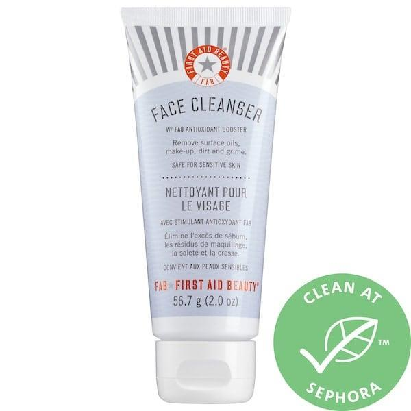 <p>This fragrance-free <span>First Aid Beauty Pure Skin Face Cleanser</span> ($11-$21) won't strip as it cleans, but <em>will</em> help calm already-irritated skin and safeguard it against environmental stressors moving forward with an antioxidant boost.</p>
