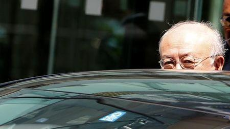 International Atomic Energy Agency director-general Amano leaves venue for nuclear talks in Vienna