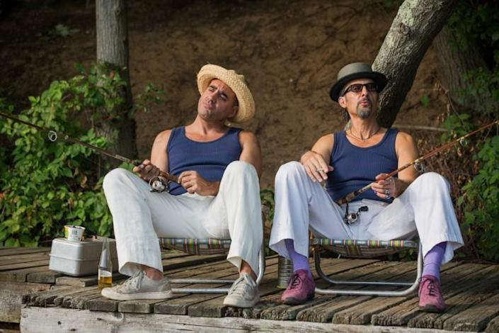 """Bobby Cannavale, left, and John Turturro in the 2019 movie """"The Jesus Rolls"""" on Showtime. <span class=""""copyright"""">(Seacia Pavao / Screen Media)</span>"""
