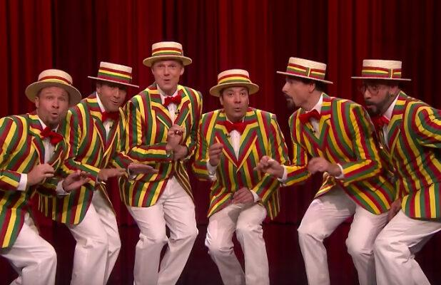 Backstreet Boys Put Fallon's Ragtime Gals Back on the Street Corner With 'Thong Song' Remix (Video)
