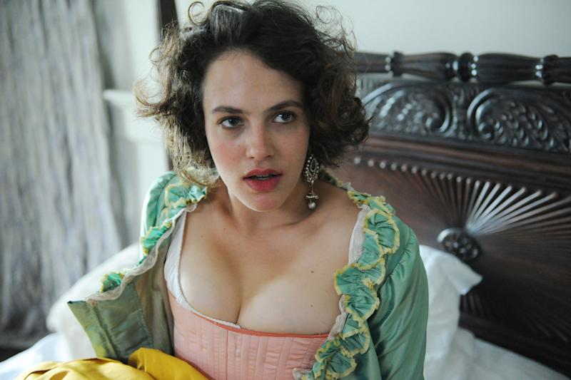Time to be open: Jessica Brown Findlay in Harlots: ITV