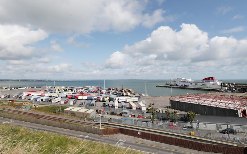 Sixteen people have been discovered in a sealed trailer on a ferry sailing from Cherbourg in France to Rosslare in the Republic of Ireland - PA