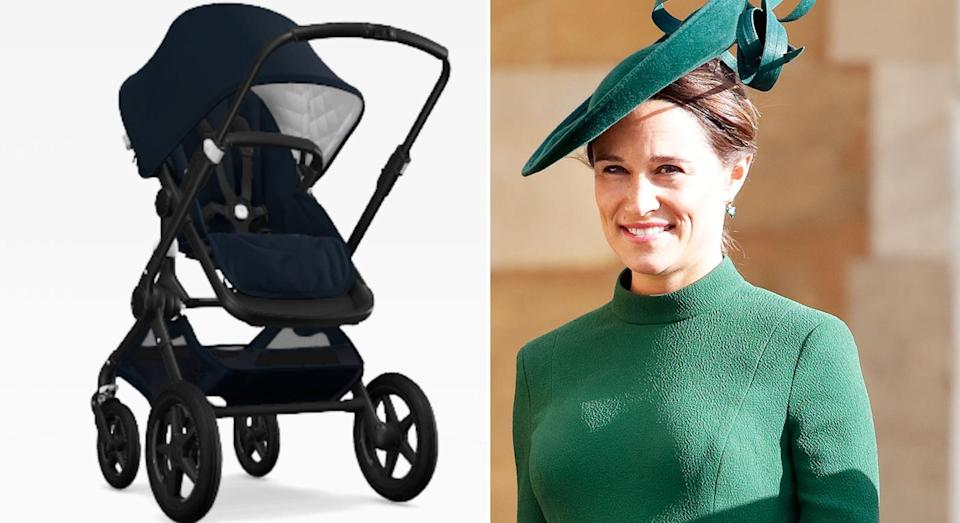 Pippa Middleton's pushchair is worth £1,119 from Bugaboo. [Photo: Getty]