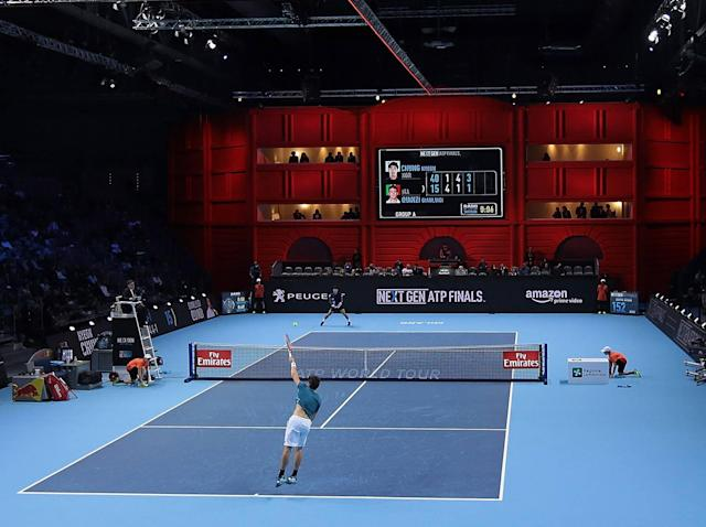 """The tournament has been billed as """"tennis re-imagined"""": Getty"""