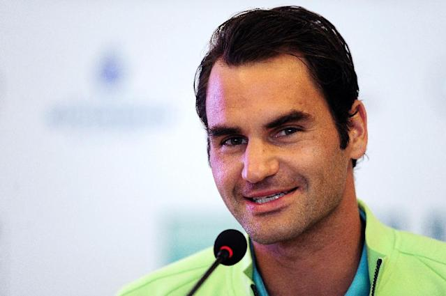 Swiss tennis player Roger Federer speaks during a press conference at the ATP Istanbul Open on April 27, 2015 (AFP Photo/Ozan Kose)