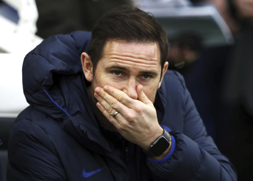 Chelsea manager Frank Lampard's rebuttal of Raheem Sterling's comments missed ... a lot. (Gareth Fuller/PA via AP)