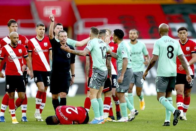 Lucas Digne also misses out for Everton after being sent off in the defeat at Southampton.