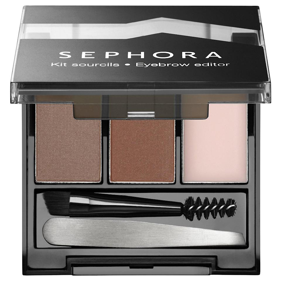 <p>This <span>Sephora Collection Eyebrow Editor</span> ($19) kit packs everything you need to shape and define brows in one little package. There's a two-tipped brush to apply the included brow powder and wax for color and definition, plus tweezers and a mirror to make sure you get the shape right, too.</p>